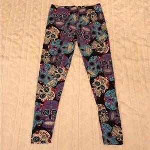 Pants - One Size Skull Leggings